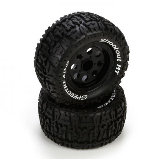 Ruckus Premont Front/Rear Black Wheel & Tyres (2)