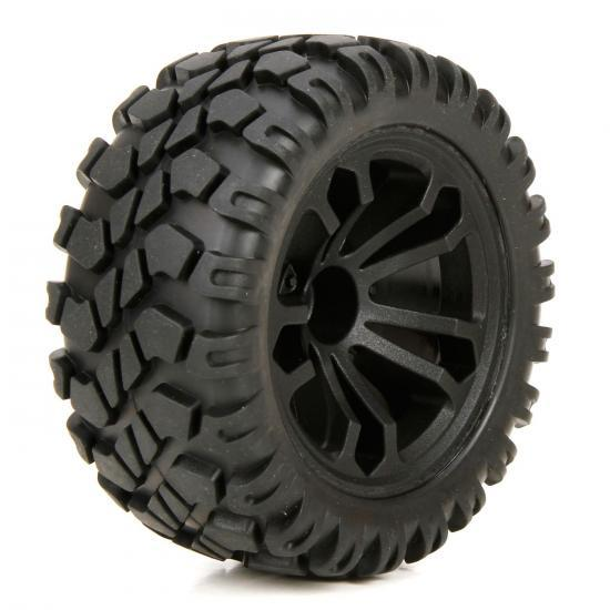 1/10 4WD Circuit Front / Rear Premounted Wheels and Tyres (2)