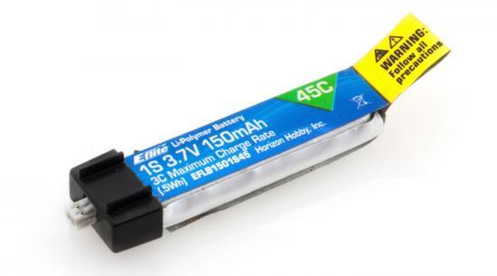 E Flite 3.7v 1S 150mAh 45C LiPo Battery