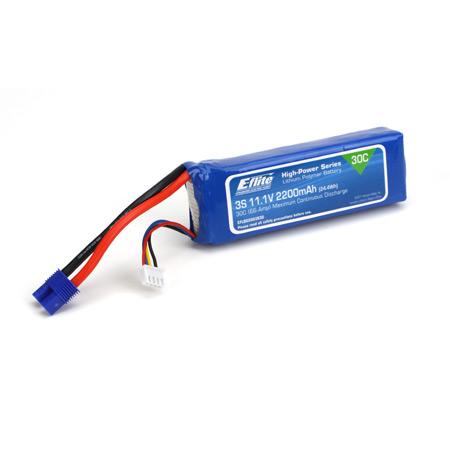 E Flite 2200mAh 3S 11.1V 30C LiPo with EC3 Connector
