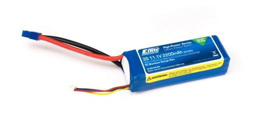 2200mAh 3S 11.1V 50C LiPo 13AWG with EC3 connector