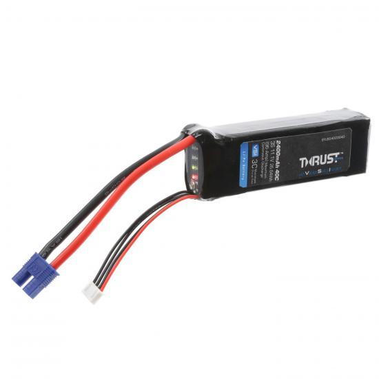 E Flite Thrust VSI LiPo With LED Indicator - 11.1V 3S 2400mAh 40C - EC3 Connector