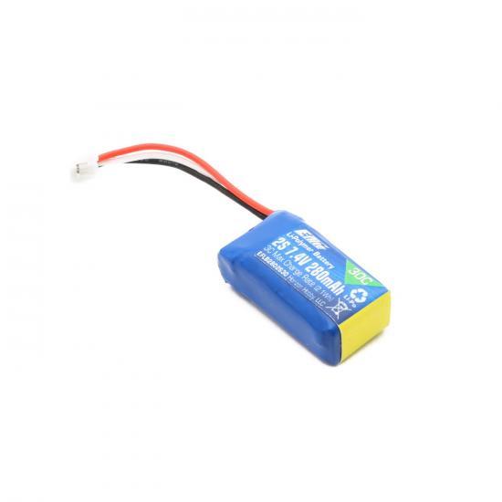 E Flite 280mAh 2S 7.4V 30C LiPo Battery