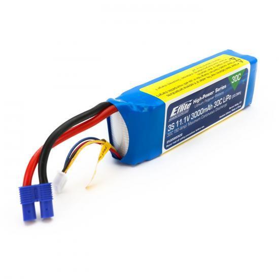 E Flite 3000mah 3S 11.1v LiPo Battery - 30C - EC3 Connector