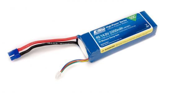 E Flite 3300mAh 4S 14.8V 50C LiPo with EC3 connector