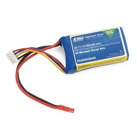 E Flite 3s 450mAh 11.1v LiPo Battery for Inverza