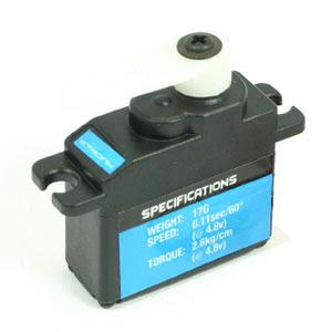 ETronix 17g Micro Servo - 2.6kg - 0.11s