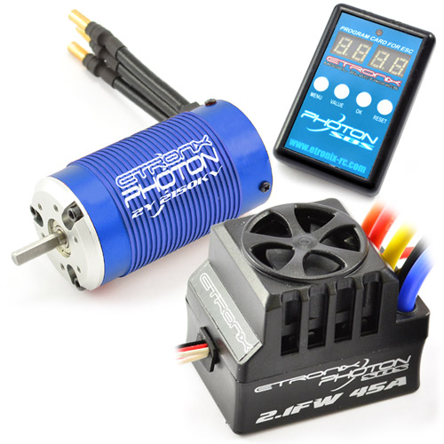 eTronix Photon SC 2.1FW Waterproof 120A ESC Combo With 4200kV Motor
