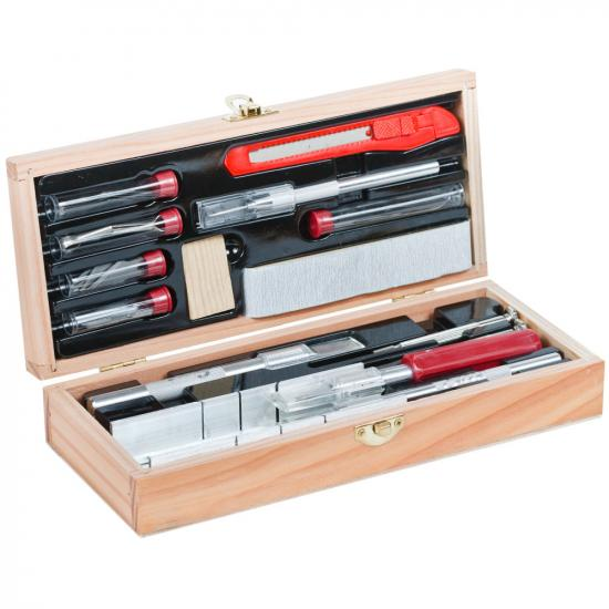 Excel Deluxe Wooden Knife & Tool Set (Boxed)
