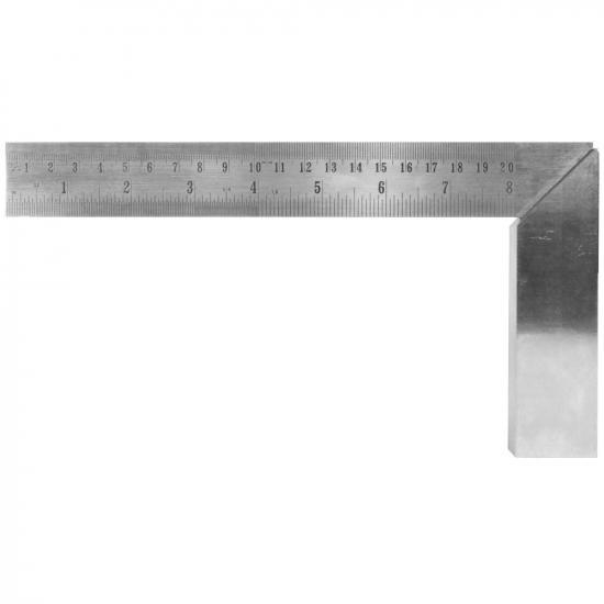 Excel 8in (20.32cm) Precision Carbon Steel Machine Square(Bulk)