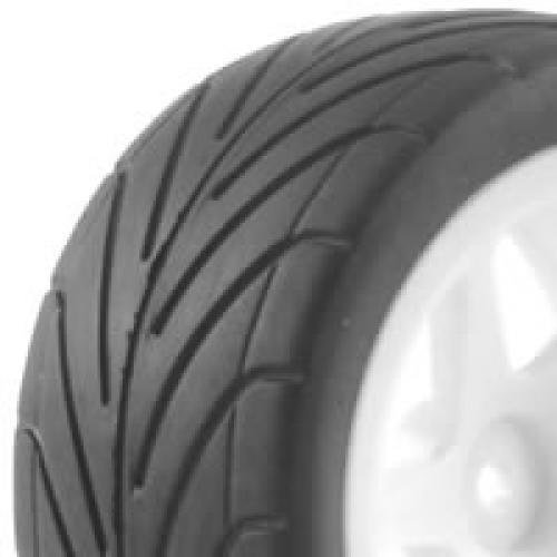 1/10th Pre Glued Buggy Tyres - 12mm Hex - Arrow Pattern - Rear (2)