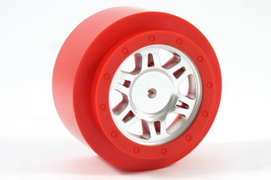 Fastrax Sc Chrome/Red Ring One Piece Wheels(2)-Slash 2Wd Fr ** CLEARANCE **