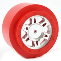 Fastrax Sc Chrome/Red Ring One Piece Wheels(2)-Slash R - 4X4F/R ** CLEARANCE **
