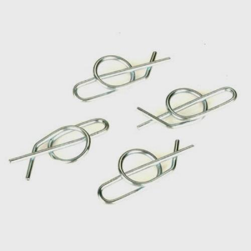 Self Locking Body Clip - Small Size - Pack Of 4 - Silver