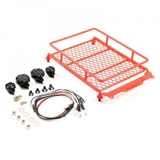 Fastrax Aluminium Luggage Rack W/Led Lamps L130mm X W110mm