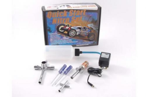 Nitro Starter Set - Includes Glowstarter and Charger, Fuel Bottle and Plug Spanner