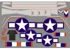 FMS P51B Snoot Sniper Decal Sheet
