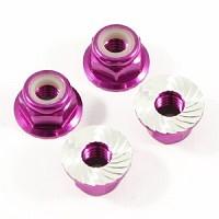 Fastrax M4 Purple Serrated Flanged Locking Wheel Nuts (4)