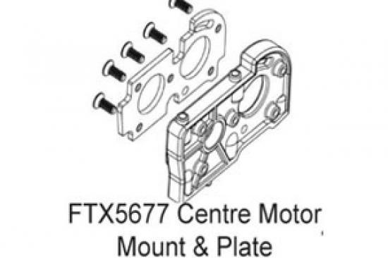 FTX Enrage Centre Motor Mount + Plate