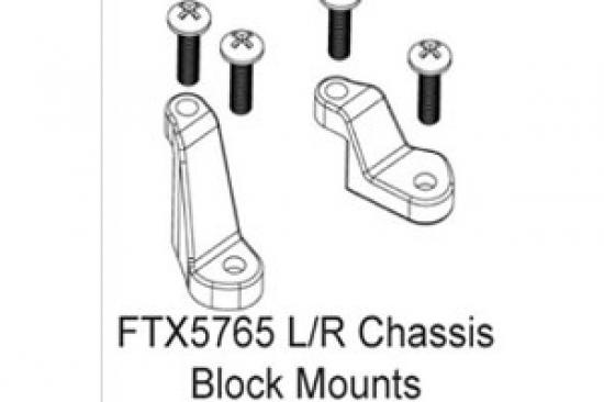 FTX Enrage L + R Front Chassis Block Mounts