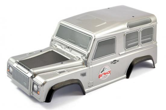 FTX Outback Ranger 2.0 (Land Rover Defender Style) Pre Painted Grey Bodyshell - 250mm WB