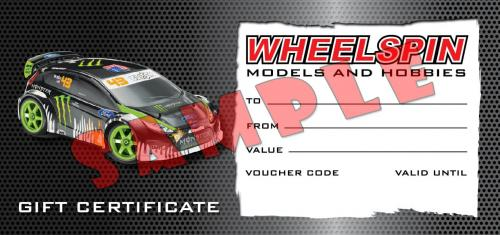 Wheelspin Models £250 Gift Voucher