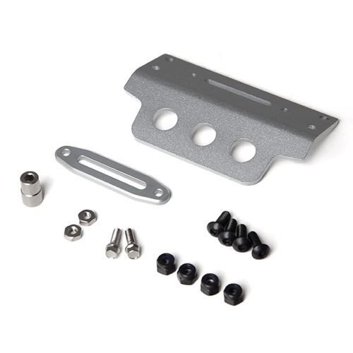 GMade Aluminium Skid Plate Silver For Gs01 Front Bumper