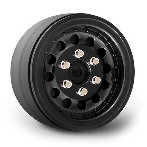 GMade NR01 1.9 Inch Beadlock Wheels - Black (2)