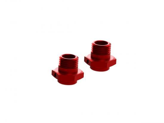ARAC9416 Arrma Aluminum Wheel Hex 17mm (16.5mm Thick, Red) (2Pcs)
