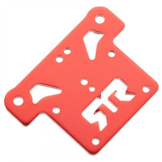 ARAC9387 Arrma Aluminium Top Plate (Red) (1Pc)