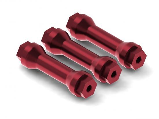 ARAC9694 Arrma CNC Aluminium Wing Posts (Red) (2Pcs)