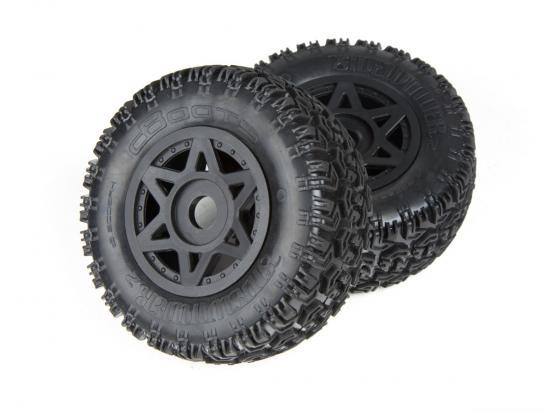 ARAC9422 Arrma DBoots Sidewinder 2 Sc 6S Tyre Set Glued (Black) (2Pcs)