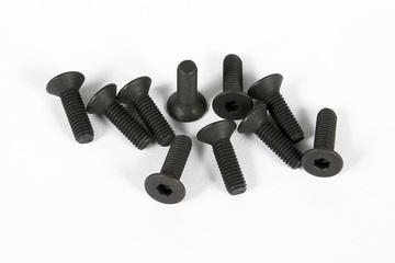 Axial M3x10mm Hex Socket Countersink Screws (Black) (10pcs)