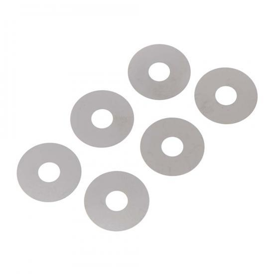 Axial Washer 6x19x0.2mm (Black) (6pcs)