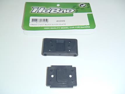 Hobao H2 Front Pivot Block + Kick Plate
