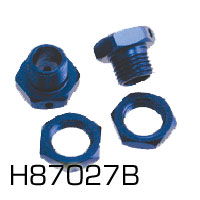 Hyper 7 Blue Wheel Hub Set (Hbm6-A/B Large Axle Only) ** CLEARANCE **
