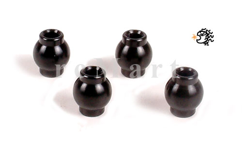 Alu. Hex Ball End For Rear Top Arm (4Pcs)