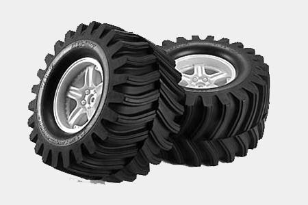 Tamiya Tgmo2 Dv-Lug Tire + Wf.Ylw X 2