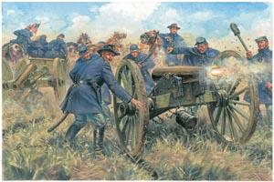 Italeri American Civ War Un Artillery