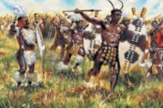 Italeri Zulu War-Zulu Warriors