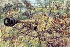 Italeri 1/72 Wwii German Pak40 At Gunw/Serv