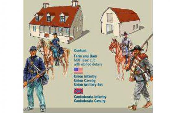 Italeri Civil War Farmhouse Battle