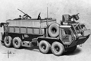 Italeri M985 Hemitt Gun Truck