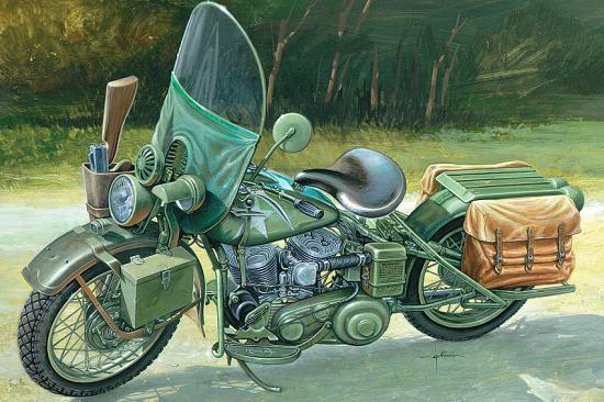 Italeri Us Army Ww11 Motorcycle
