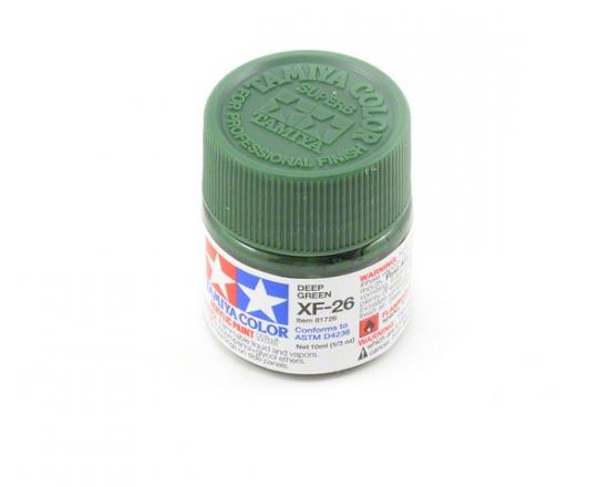 Tamiya Acrylic Mini Paints XF-26 Deep Green