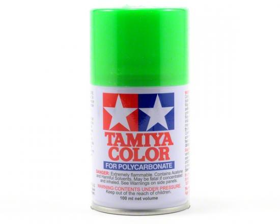 Tamiya Lexan Spray Paint - PS-28 Fluroescent Green