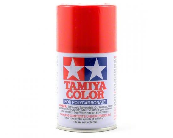 Tamiya Lexan Spray Paint - PS-34 Bright Red