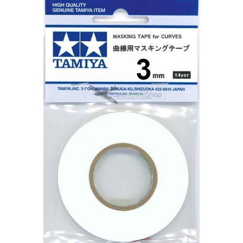 Tamiya Masking Tape For Curves - 3mm x 20m