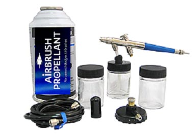 Badger 200 Siphon Feed Airbrush Set - With Propellant