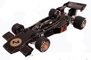 Ebbro 1/20 Lotus Type 72E Black + gold 1973